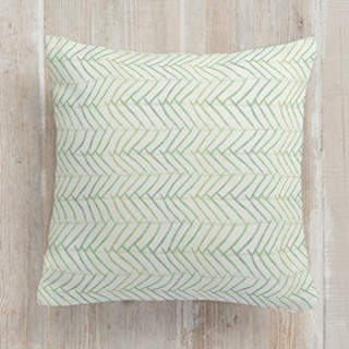 Minty Herring Square Pillow