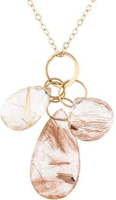 Melissa Joy Manning 14K Rutilated Quartz Pendant Necklace