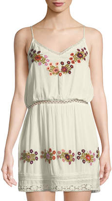 Tularosa London Embroidered Slip Dress