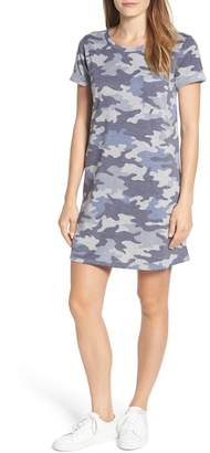 Caslon R R) Camo Knit Dress (Regular & Petite)