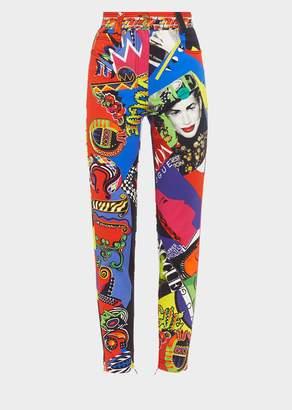 Versace Vogue SS91 Print High-waisted Jeans