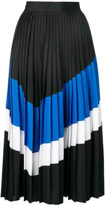 Sportmax Code diagonal stripe pleated skirt