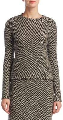 Ralph Lauren Collection Slub Tweed Herringbone Sweater
