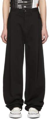 Miharayasuhiro Black Denim Wide Jeans