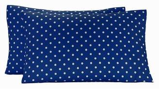 Pottery Barn Teen Dottie Pillowcases, Set of Two, Royal Navy