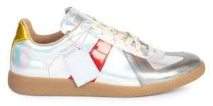 Maison Margiela Replica Leather Low-Top Sneakers