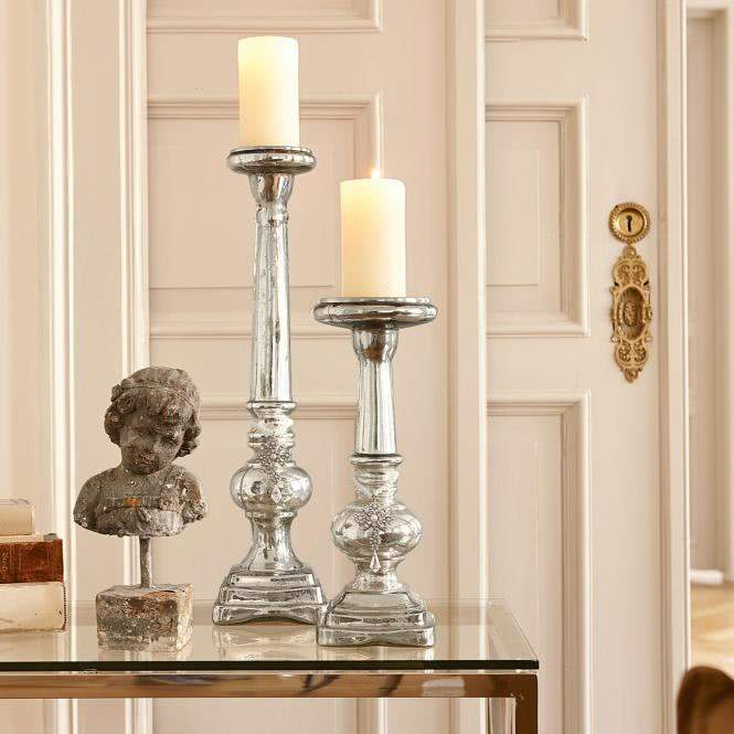 LOBERON Kerzenständer 2er-Set Charlene