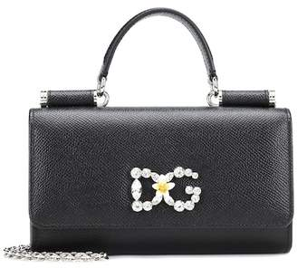 Dolce & Gabbana Von leather shoulder bag