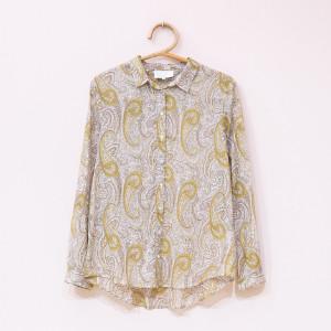 Ni · Ma ni ma - Mustard Cashmere Shirt - M - Yellow/White/Brown