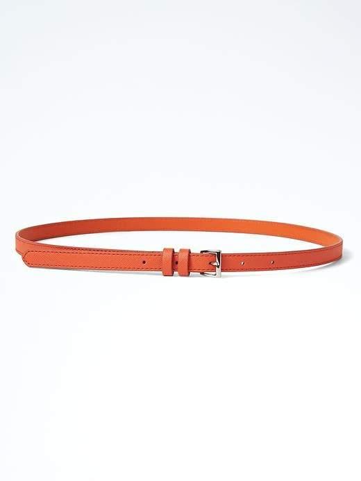 Leather Skinny Belt