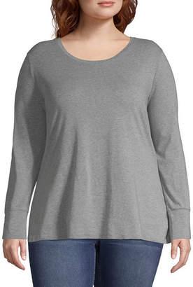 A.N.A Long Sleeve Crew Neck T-Shirt - Plus
