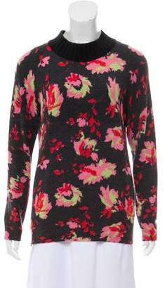 Blumarine Long Sleeve Floral Print Sweater