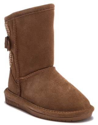BearPaw Boshie Knit Buckle Genuine Wool Lined Boot (Toddler & Little Kid)