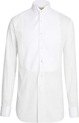 Burberry Modern Fit Panelled Bib Cotton Silk Evening Shirt