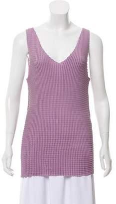 Armani Collezioni Sleeveless Textured Top