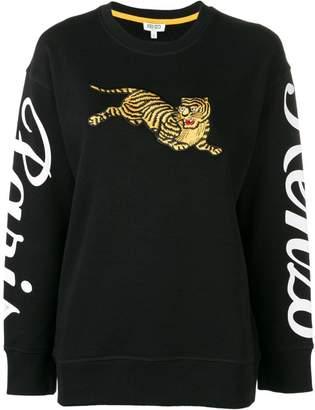 Kenzo Tiger logo print sweatshirt
