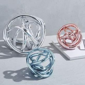 west elm Metallic Glass Knots