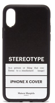 Maison Margiela Stereotype Iphone X Phone Case - Mens - White Black