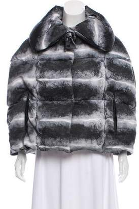 Moncler Gamme Rouge Printed Puffer Cape