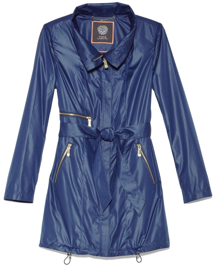 Vince Camuto Diana Belted Zip Jacket