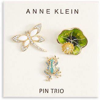 Anne Klein Three-Pack Box Pin Critters