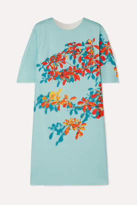 Dries Van Noten Dan Floral-print Stretch-scuba Dress - Teal