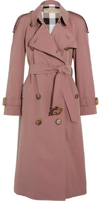 Burberry - The Haughton Cotton-gabardine Trench Coat - Antique rose $2,395 thestylecure.com