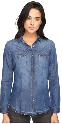 Mavi Jeans Melissa Shirt in Mid Indigo Women's Clothing