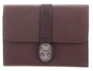 Tumi Saffiano Compact Wallet Plum Saffiano Compact Wallet