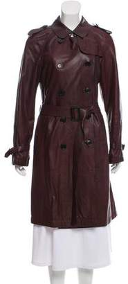 Gerard Darel Leather Trench Coat