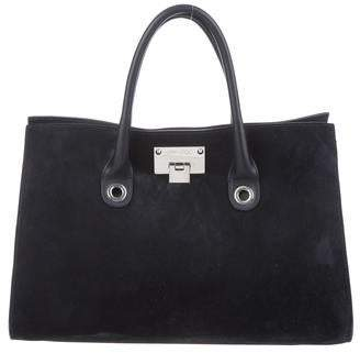Jimmy Choo Suede Riley Tote
