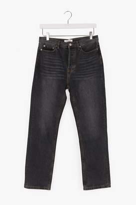 Genuine People Mid-Rise Straight Loose Jeans