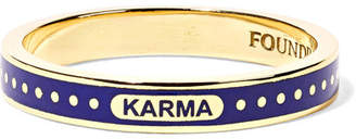 Foundrae - Karma 18-karat Gold Enamel Ring