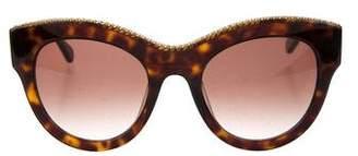 Stella McCartney Tortoiseshell Chain-Link Sunglasses