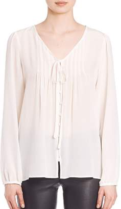 SET Women's Silk Pleated Blouse