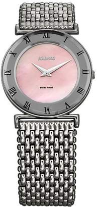Jowissa Women's J2.081.M Roma MoL Pink Mother-of-Pearl Roman Numerals Stainless-Steel Watch