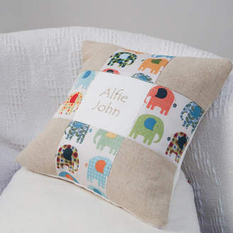 Tuppenny House Designs Elephant Name Cushion