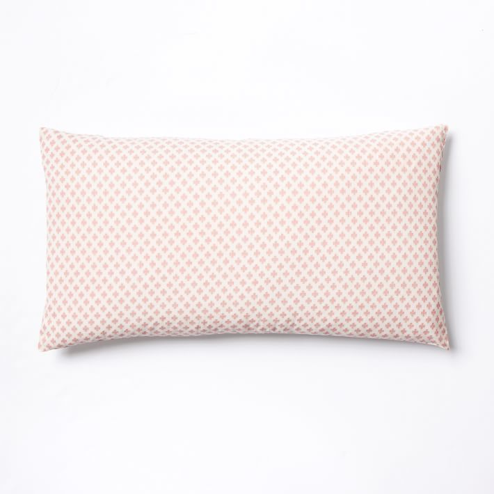 west elm Jacquard Leaf Duvet Cover + Shams - Lotus Pink