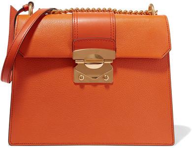 Miu MiuMiu Miu - Large Textured-leather Shoulder Bag - Orange