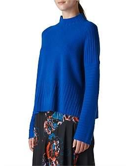 Whistles Rib Detail Wool Knit