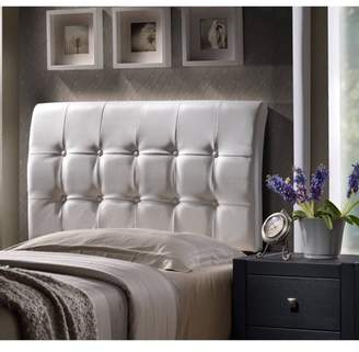 Hillsdale Furniture Lusso King Headboard, Black Faux Leather