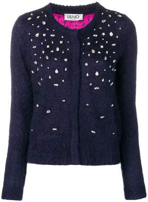Liu Jo embellished fitted cardigan