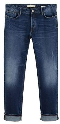 Mango Man MANGO MAN Slim-fit faded dark wash Tim jeans
