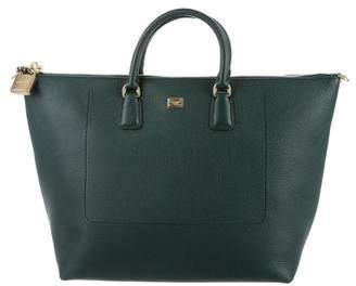 Dolce & Gabbana Vitello Shopping Satchel w/ Tags