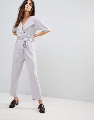 Asos Design DESIGN wrap jumpsuit with self belt