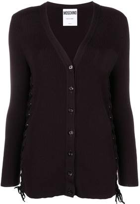 Moschino side lace cardigan