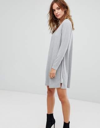 Supertrash Diffon Mixed Media Tunic Dress