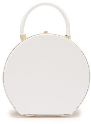 Sparrows Weave - The Round Wicker And Leather Bag - Womens - White