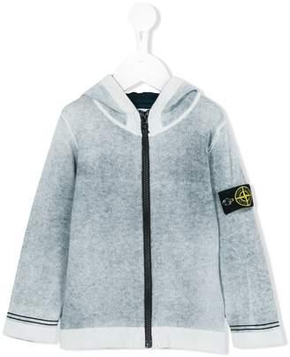 Stone Island Junior zip-up sweatshirt