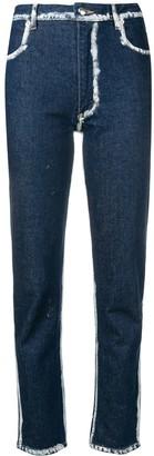 Eckhaus Latta painted detail jeans